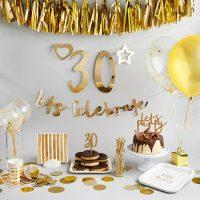 Personoitava Let´s Celebrate banneri - kulta 2