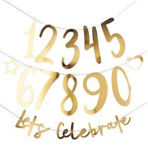 Personoitava Let´s Celebrate banneri - kulta