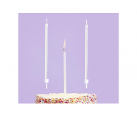 Valkoiset kakkukynttilät, 12 kpl