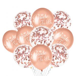 Ilmapallokimppu Bride To Be 10 kpl, ruusukulta