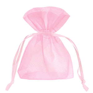 Vaaleanpunaiset organza-pussukat