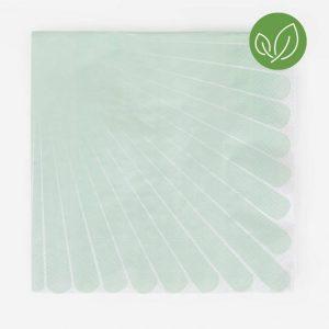 Vedenvihreät raidalliset lautasliinat, 20 kpl