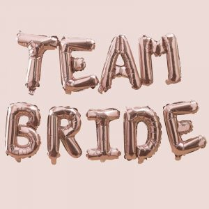 Team Bride folioilmapallot, ruusukulta