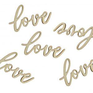 """""""Love"""" puukonfetit, 18 kpl"""