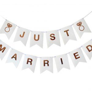 """Just Married"" koristenauha DIY"