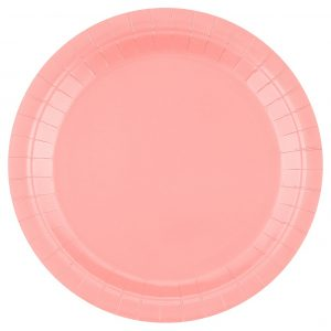 Vaaleanpunaiset pahvilautaset 23 cm, 14 kpl