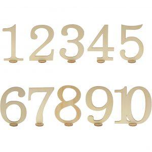 Puiset pöytänumerot 1 - 10