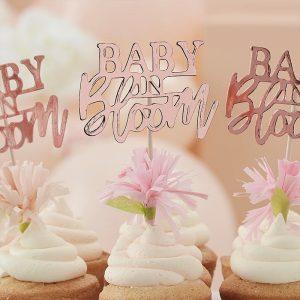 Baby in bloom kuppikakkukoristeet