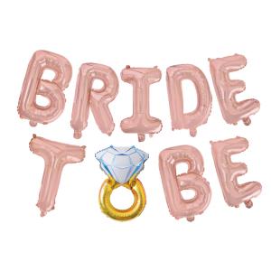 Bride to be folioilmapallot sormuskoristeella
