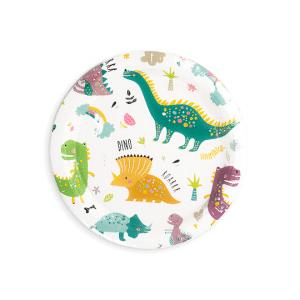 Dino pyöreät pahvilautaset, 6 kpl