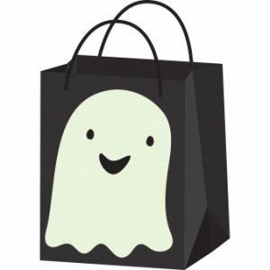 Halloween paperikassi haamu