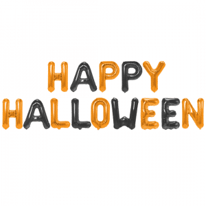 Happy Halloween kirjainfoliopallo