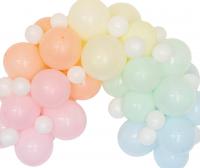 Pastelli ilmapallokaari, 60 palloa