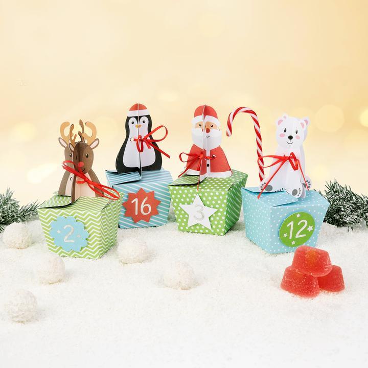 Joulukalenteri Joulupukki ja eläimet 2