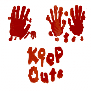 Keep Out ikkunatarrat