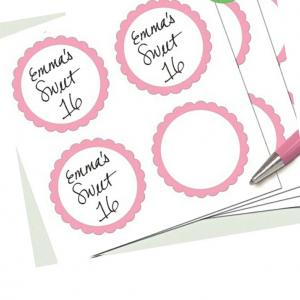 Vaaleanpunaiset etikettitarrat, 20 kpl