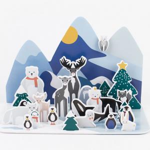 Joulukalenteri Pohjoisen metsän eläimet