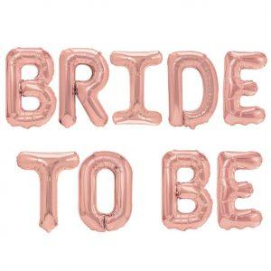 Ruusukultaiset Bride to be folioilmapallot