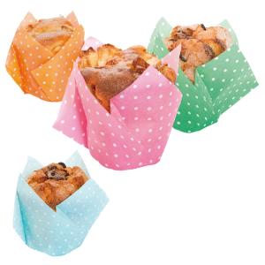 Tulppaanivuoat muffineille värimix