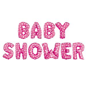 Baby Shower folioilmapallot, pinkki
