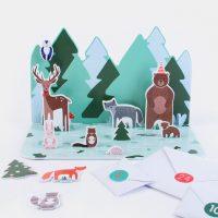 Joulukalenteri - metsän eläimet 2