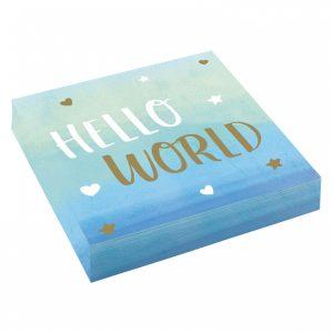 Hello World siniset lautasliinat, 16 kpl