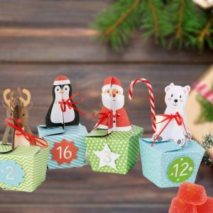 DIY Joulukalenteri - Rasiat hahmokoristeilla